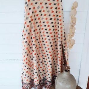 Vintage Ethnic Maxi Skirt / 24 in waist XXS